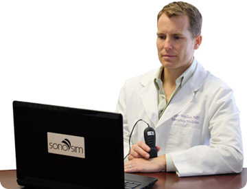 Physicians, nurses, medical students and sonographers can learn sonography using the SonoSim online ultrasound training solution
