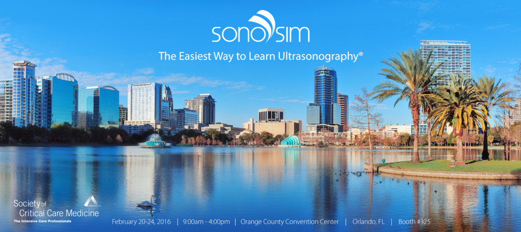 SonoSim at SCCM for Critical Care Ultrasound