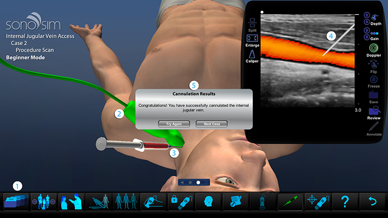 Doctors can scan real patient pathology using ultrasound simulation while earning CME credit