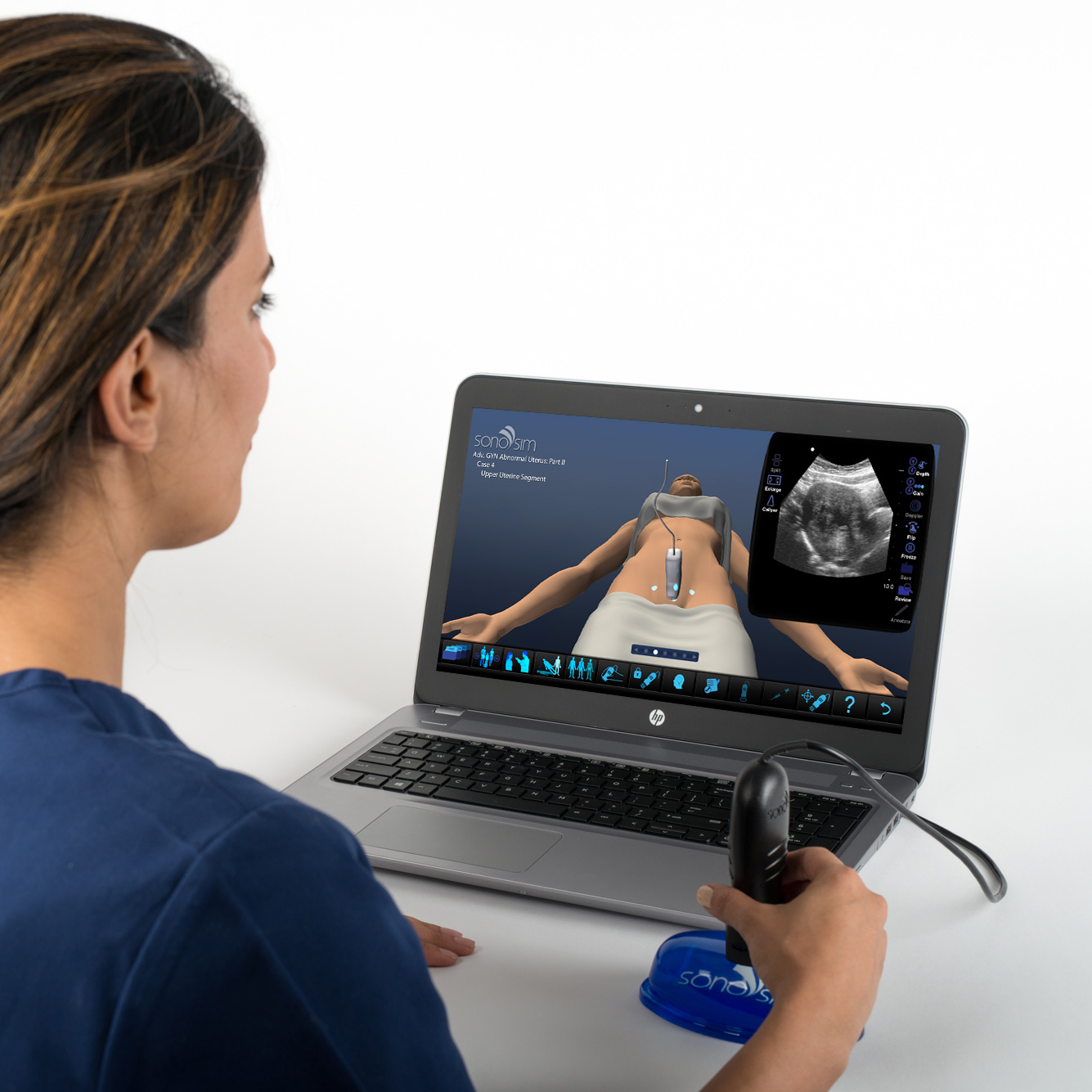 Ultraschallsimulator für GYN-Ultraschall bei nicht-schwangeren abnormen Gebärmutter - Teil II: Fortgeschrittenes klinisches Modul