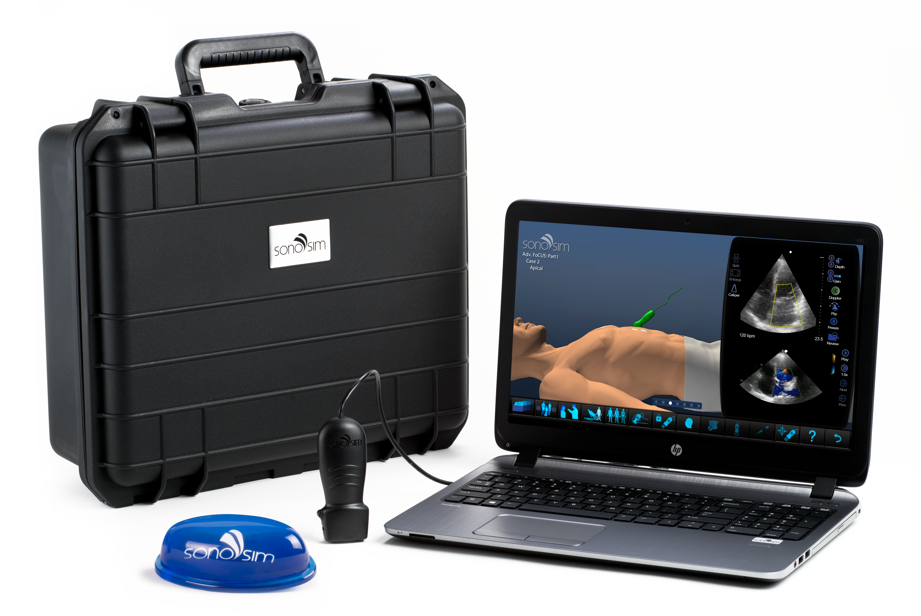 Personal Online Ultrasound training that allows physicians to train at home using personal computers