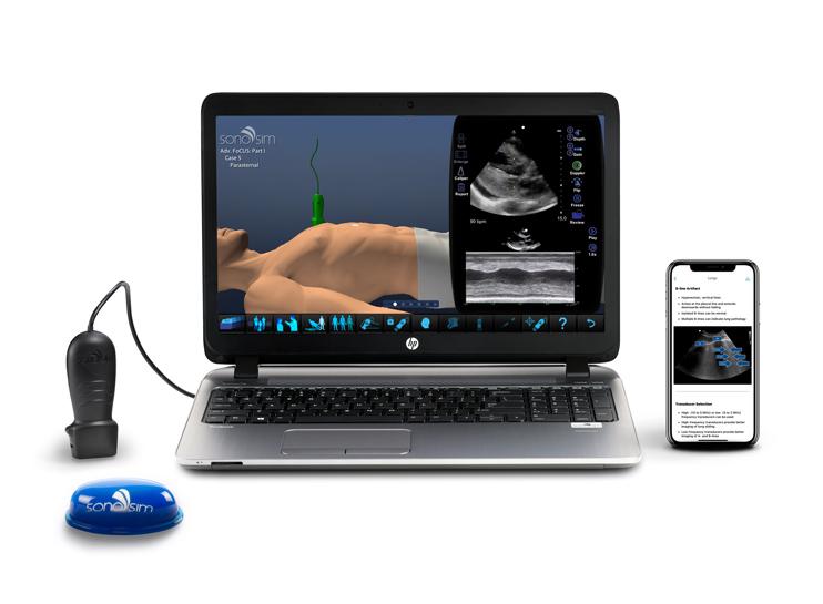 sonosim laptop and probe