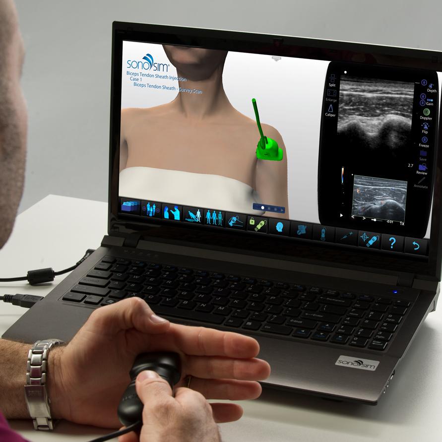 Ультразвуковой тренажер для инъекции оболочки сухожилия бицепса: процедурный модуль