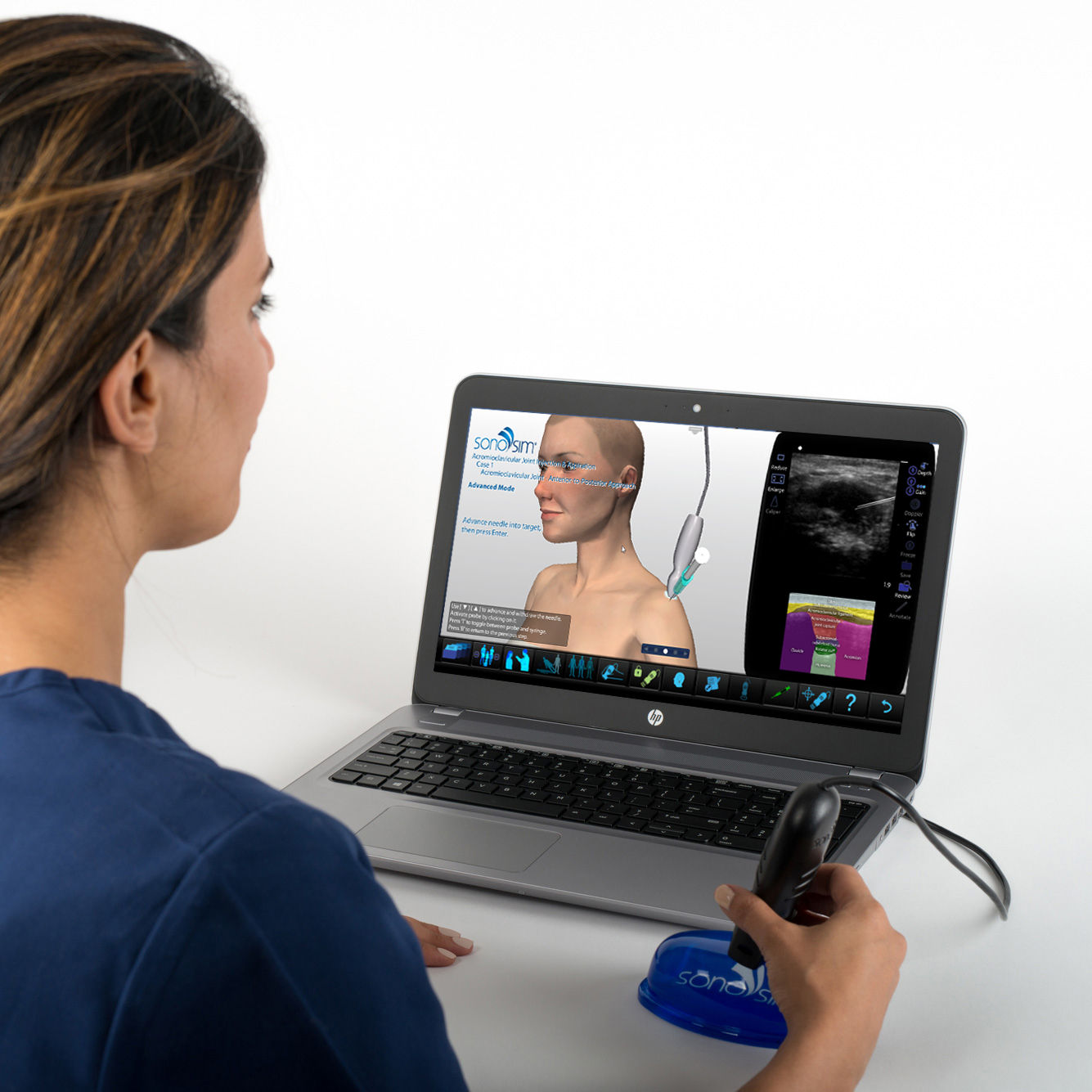 Ultrasound Simulator for Acromioclavicular Joint Injection & Aspiration: Procedure Module