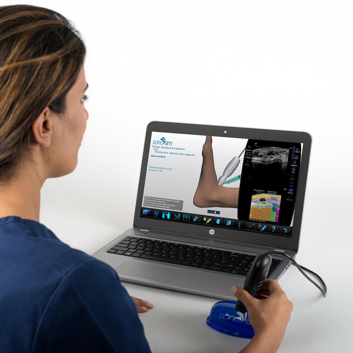 Ultrasound Simulator for Tibiotalar Joint Injection & Aspiration: Procedure Module