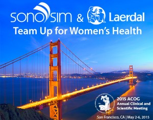 SonoSim & Laerdal Team Up for Women's Health at ACOG 2015