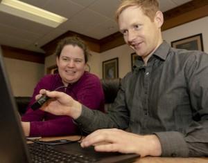 Studenti dell'Idaho State University Cross Train che utilizzano le più recenti tecnologie a ultrasuoni